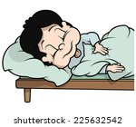sleeping boy   cartoon... | Shutterstock .eps vector #225632542