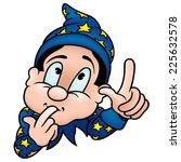 wizard   colored cartoon... | Shutterstock .eps vector #225632578