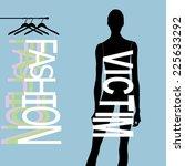fashion girl for your design | Shutterstock .eps vector #225633292