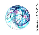 abstract blue sphere on white... | Shutterstock .eps vector #225638206