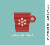 christmas card design. vector... | Shutterstock .eps vector #225639118
