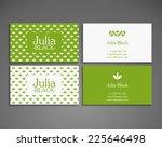 vintage business card | Shutterstock .eps vector #225646498