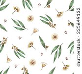 watercolor seamless pattern... | Shutterstock .eps vector #225649132