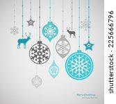 christmas decorations. vector... | Shutterstock .eps vector #225666796