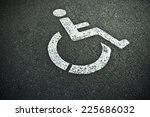 Disabled Sign On Asphalt