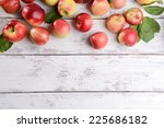 Sweet Apples On Wooden...