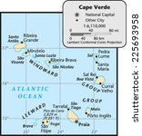 cape verde country map | Shutterstock .eps vector #225693958