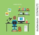 flat icons design for modern... | Shutterstock .eps vector #225696172