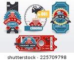 vector set  tickets in...   Shutterstock .eps vector #225709798