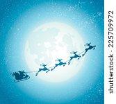 santa claus sleigh | Shutterstock .eps vector #225709972