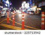 Evening traffic in downtown , chiangmai Thailand - stock photo