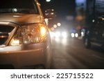 Evening traffic in downtown, chiangmai Thailand - stock photo