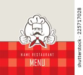 Menu Design With Whiskered Coo...