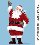 vintage style father christmas  ... | Shutterstock .eps vector #225719752