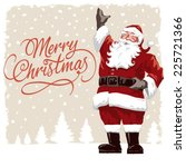 vintage style father christmas  ... | Shutterstock .eps vector #225721366