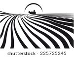 illustration about farmlands... | Shutterstock .eps vector #225725245