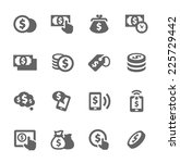 simple set of money related... | Shutterstock .eps vector #225729442