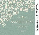 retro invitation or wedding... | Shutterstock .eps vector #225730756