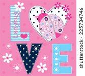 ladybug love card vector...