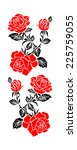 color image of flowers  roses ... | Shutterstock . vector #225759055