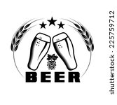 beer emblem vector design...   Shutterstock .eps vector #225759712