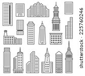 skyscrapers icons. modern... | Shutterstock .eps vector #225760246