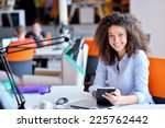 successful business woman... | Shutterstock . vector #225762442