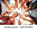 summer holidays and teenage... | Shutterstock . vector #225764986