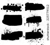 ink grunge banners. vector... | Shutterstock .eps vector #225779512