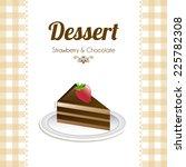 chocolate graphic design  ... | Shutterstock .eps vector #225782308