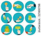 money in hands icons | Shutterstock .eps vector #225800788