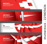 abstract swiss flag ... | Shutterstock .eps vector #225805636
