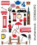 uk icons set  united kingdom... | Shutterstock .eps vector #225806392