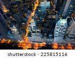 new york city   amazing sunrise ... | Shutterstock . vector #225815116