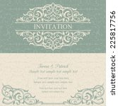 baroque invitation card in old... | Shutterstock .eps vector #225817756