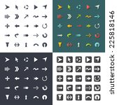arrow sign icon set. set... | Shutterstock .eps vector #225818146