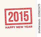 happy new year cards  stamp... | Shutterstock .eps vector #225822475