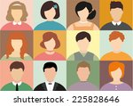 set of flat people icons.... | Shutterstock .eps vector #225828646