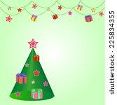 christmas background | Shutterstock .eps vector #225834355