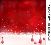 christmas background with shiny ... | Shutterstock .eps vector #225840052