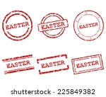 easter stamps | Shutterstock .eps vector #225849382