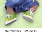 Children's legs - stock photo