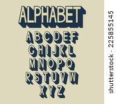 retro alphabet. vector letters  ...   Shutterstock .eps vector #225855145