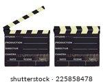 clapperboard. vector... | Shutterstock .eps vector #225858478