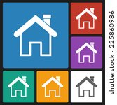 home icon | Shutterstock .eps vector #225860986