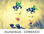 vintage photo of fresh fruit in ... | Shutterstock . vector #225864322