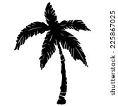 coconut palm tree black... | Shutterstock .eps vector #225867025