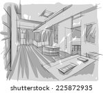 sketch of interior   Shutterstock .eps vector #225872935