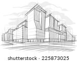 architecture sketch | Shutterstock .eps vector #225873025
