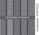 set of ten modern style | Shutterstock .eps vector #225873112